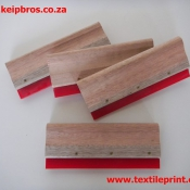 Squeegee in Wooden Handle Screen Printing Accessories