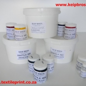 Kit of Textile Screen Printing Inks Base and Pigments