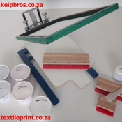 One Colour Spring Loaded T-shirt Screen Printing Kit