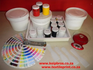 Textile Printing Inks with colour chart